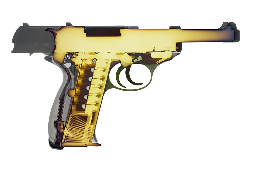 Walther P38 Photograph - X-ray Art Of Walther P38 No. 4 by Ray Gunz