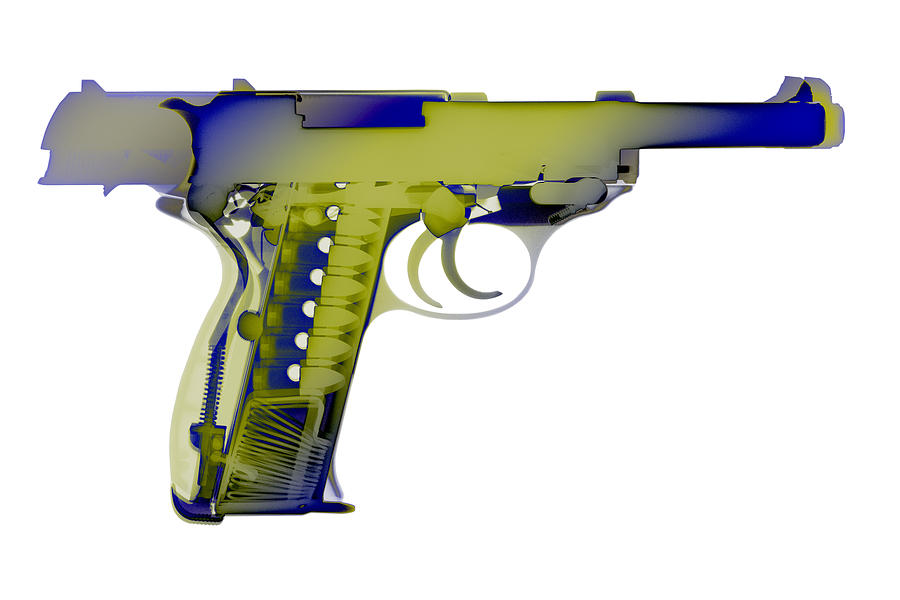 Walther P38 Photograph - X-ray Art Of Walther P38 No.5 by Ray Gunz