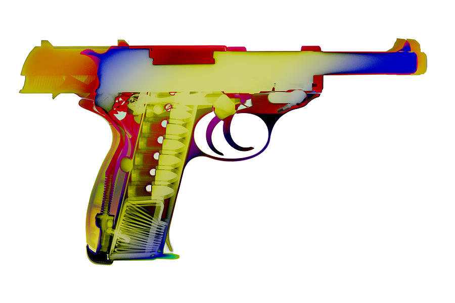 Walther P38 Photograph - X-ray Art Of Walther P38 by Ray Gunz
