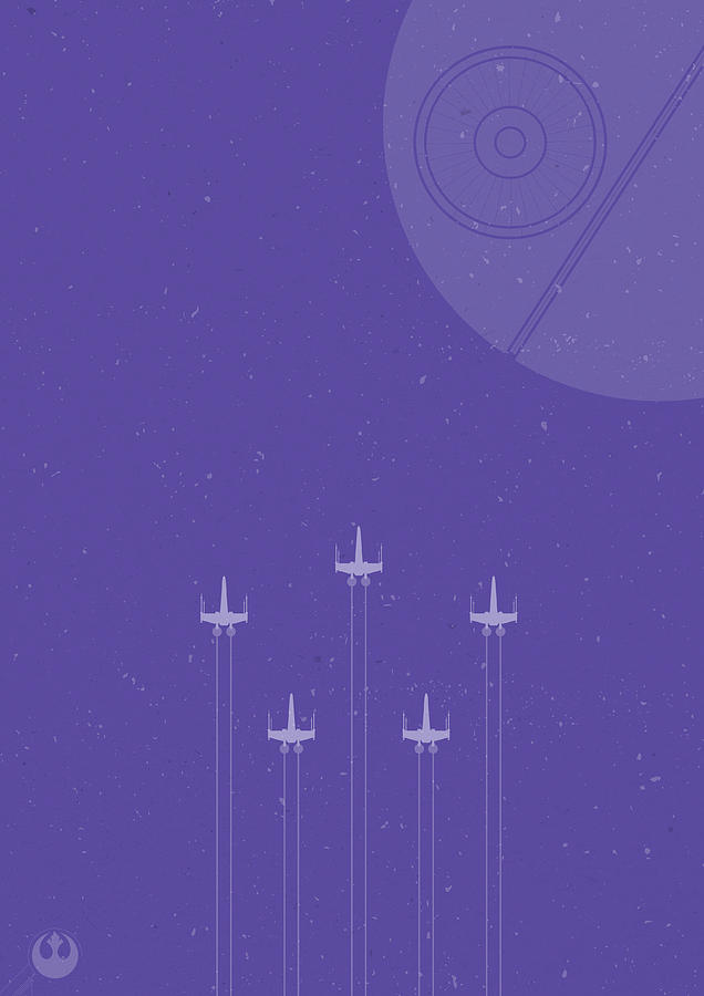 X-wing Attack Digital Art
