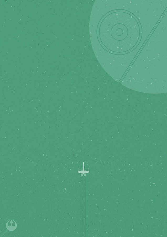 X Wing Photograph - X-Wing Meets Death Star by Samuel Whitton