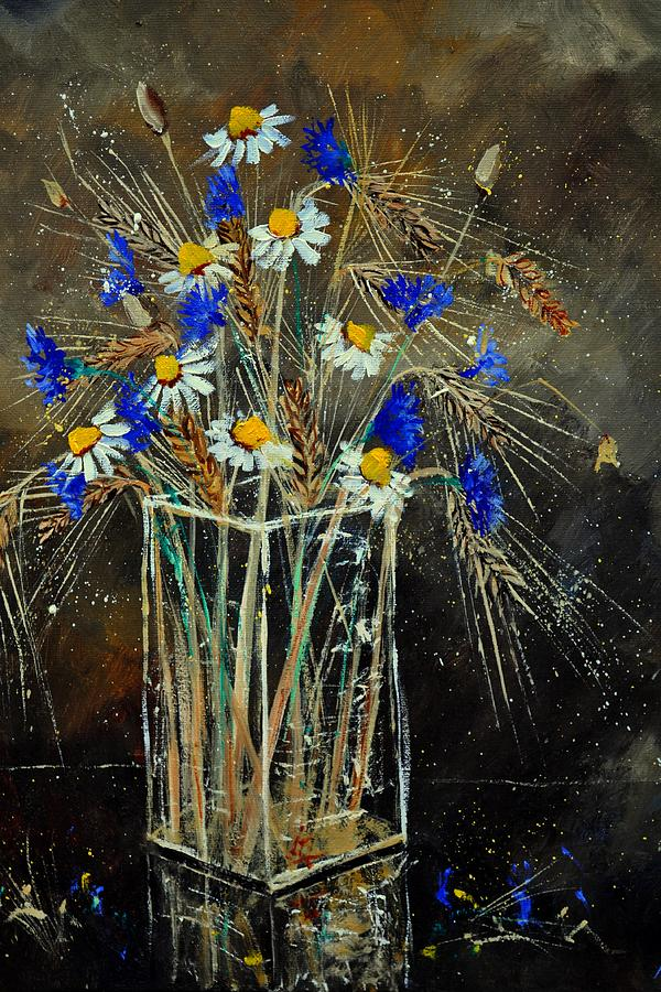 Flowers Painting - Xavs Bunch  by Pol Ledent