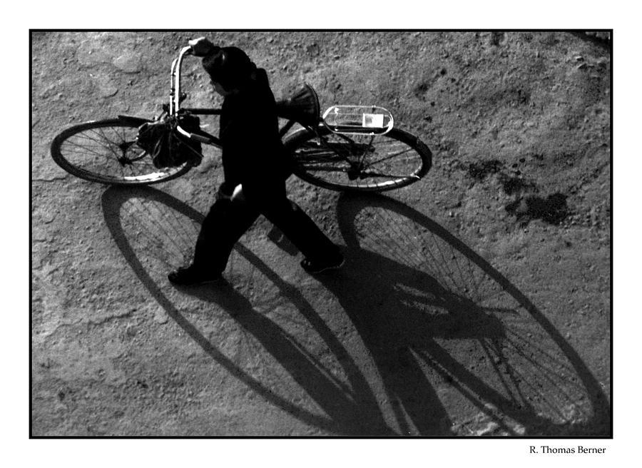 Xian Bike Lines Photograph by R Thomas Berner