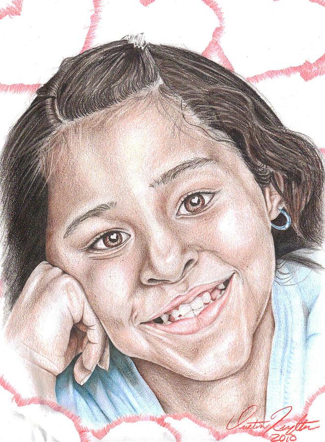 Xiomara Drawing by Dustin Knighton