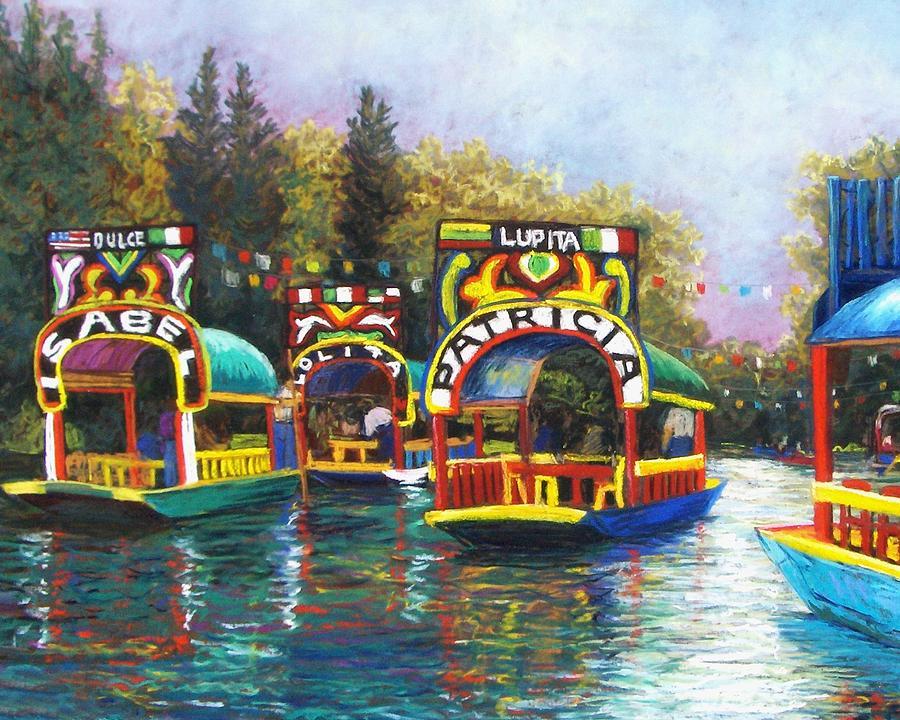 Landscape Pastel - Xochimilco by Candy Mayer