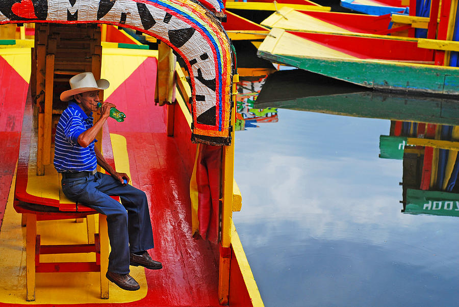 People Photograph - Xochimilco by Skip Hunt