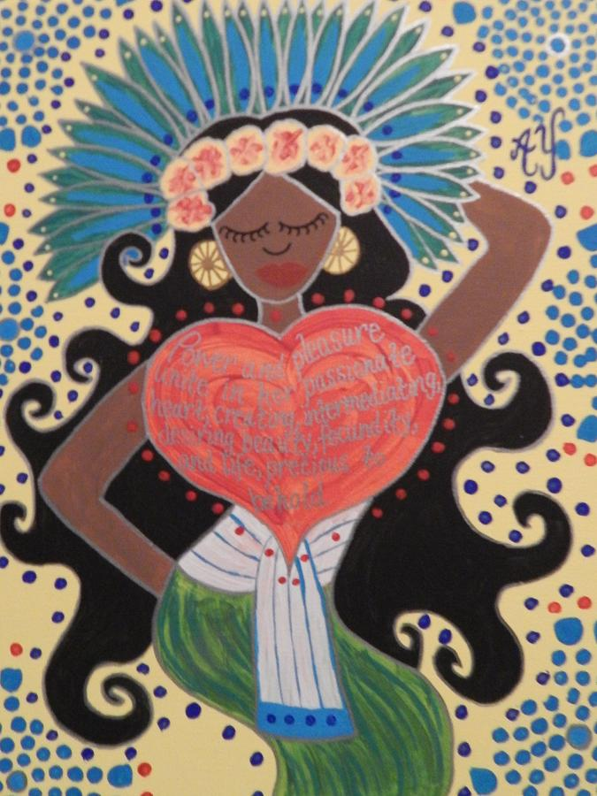 Holy Painting - Xochiquetzal by Angela Yarber