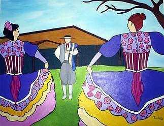 Xote Das Duas Damas Painting by THAIS IBANEZ  Tropical Art