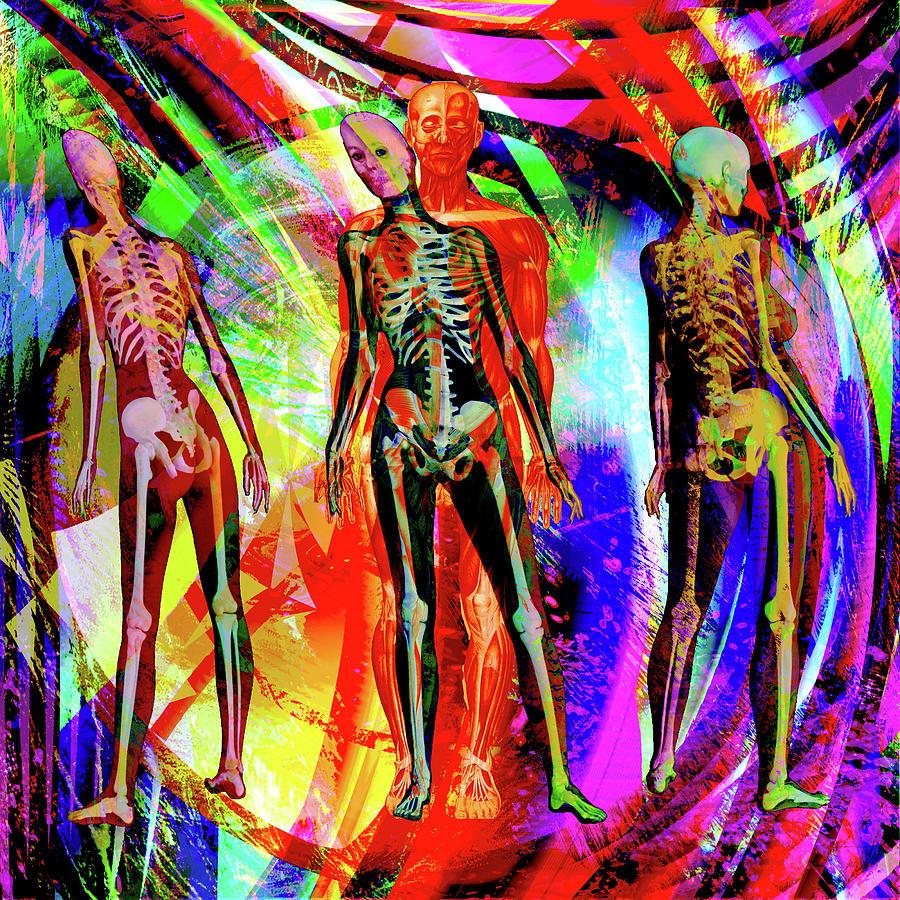 I See You Digital Art - Bones by Joseph Mosley