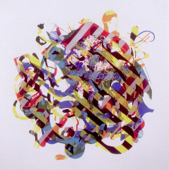 Abstract Print - Xy - Composition 2003 by Harry Agema