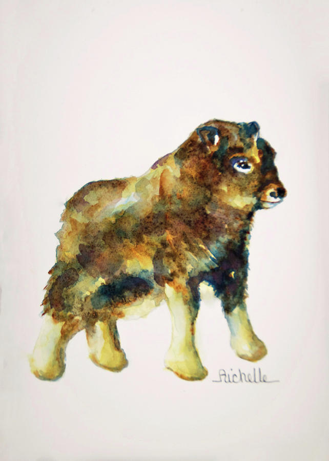 Yak Painting - Y Is For Yak by Richelle Siska