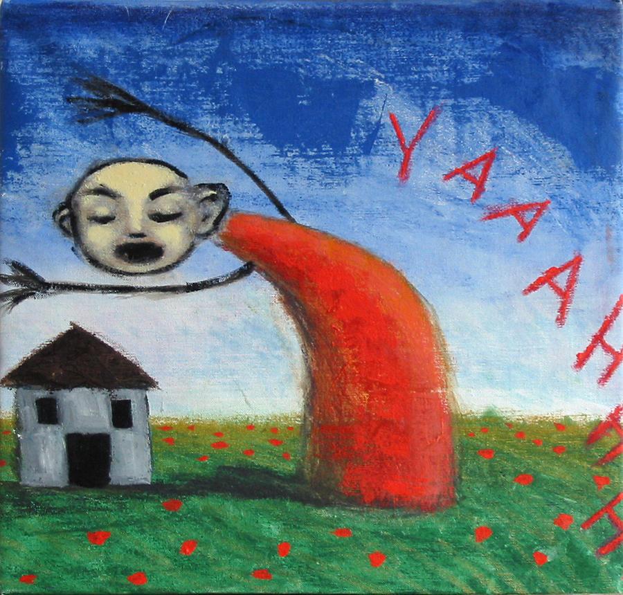 Figure Painting - Yaaahhh by Pauline Lim