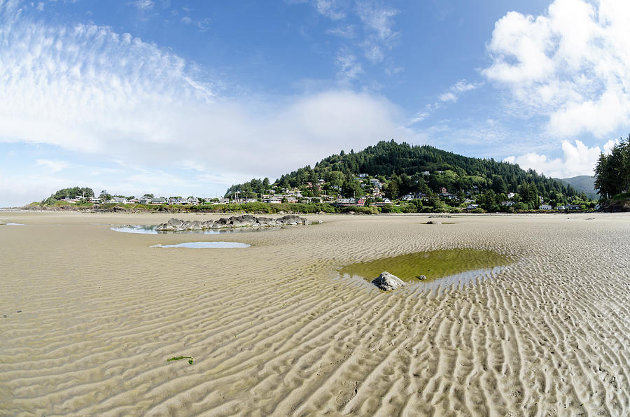Yachats Photograph - Yachats River At Low Tide by Margaret Pitcher