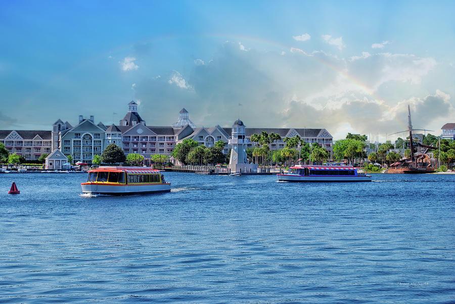 Blue Photograph - Yacht And Beach Club Walt Disney World by Thomas Woolworth