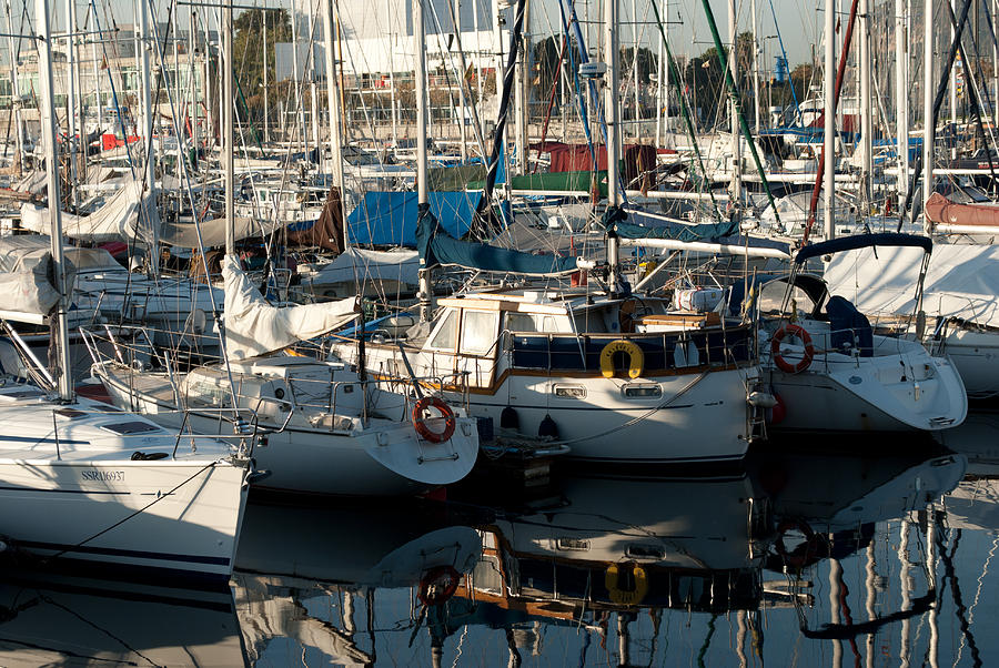 Yacht Photograph - Yachts In The Lisboa Dock  by Maryia Isachenka