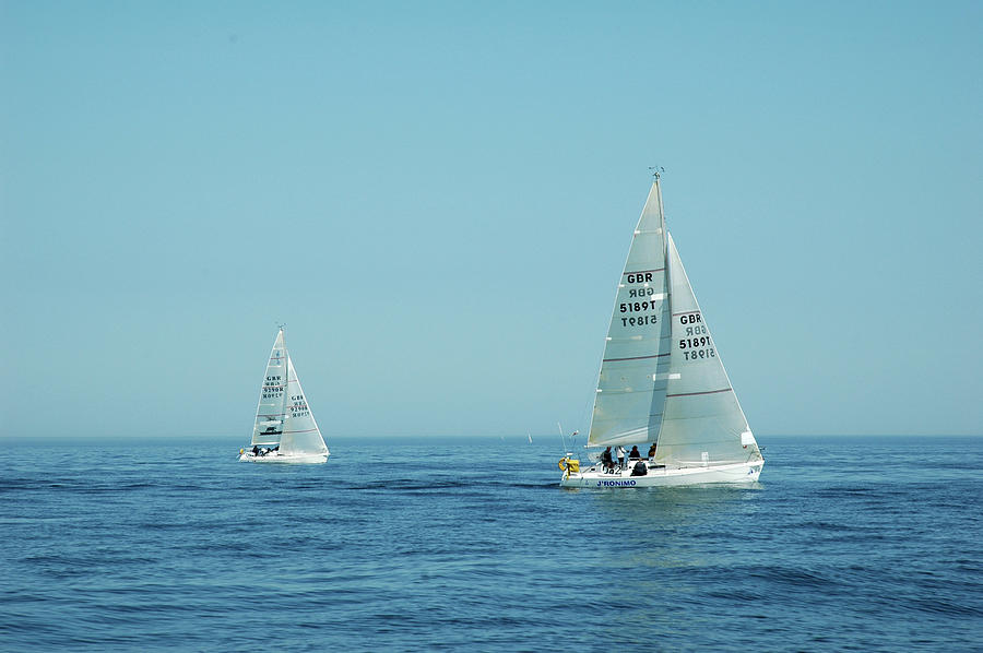 Yachts Photograph - Yachts by Nigel Chaloner