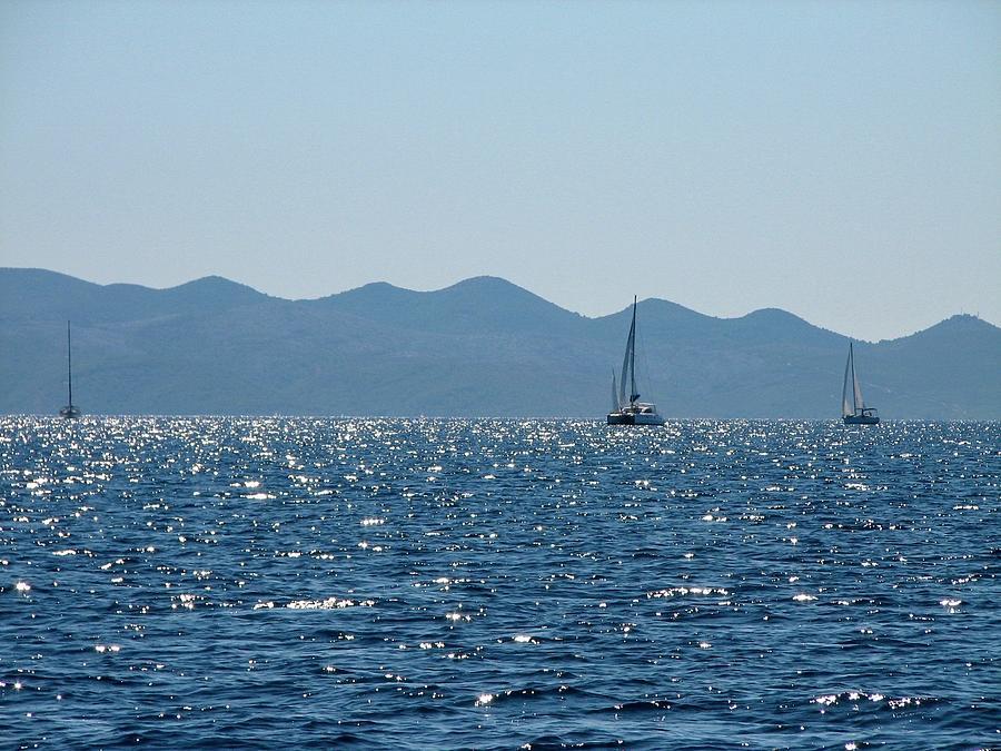 Yachts Photograph - Yachts On Adriatic Sea by Olga Kurygina