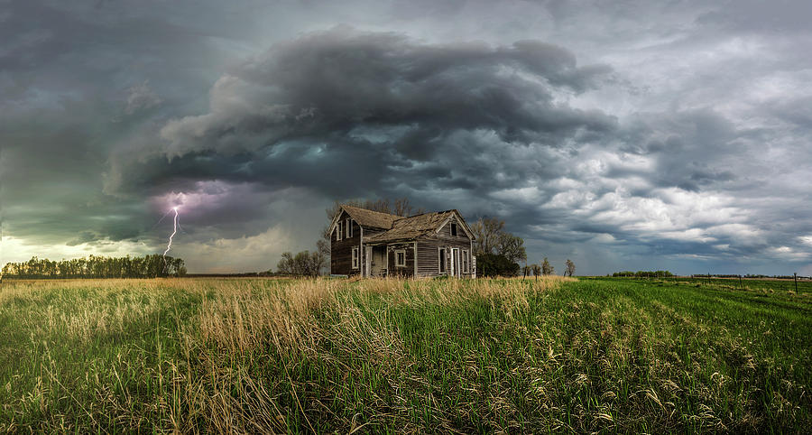 Abandoned Photograph - Yale Supercell Pano  by Aaron J Groen