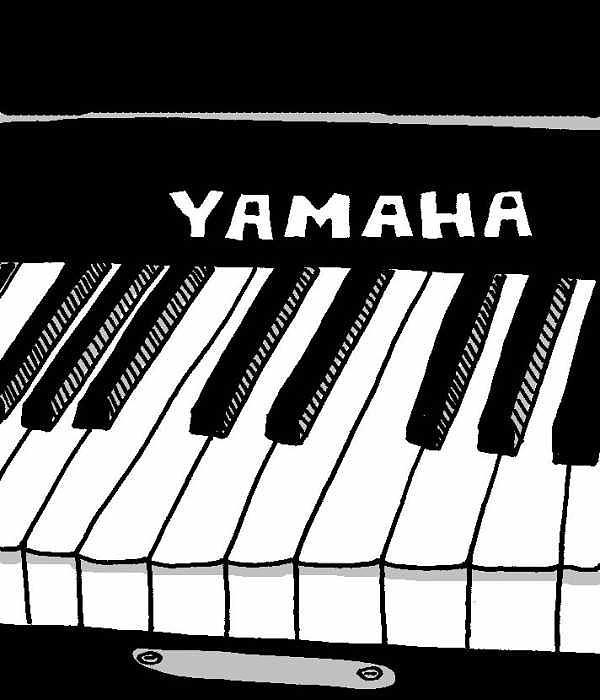 Piano Digital Art - Yamaha Piano by Kip  Lake