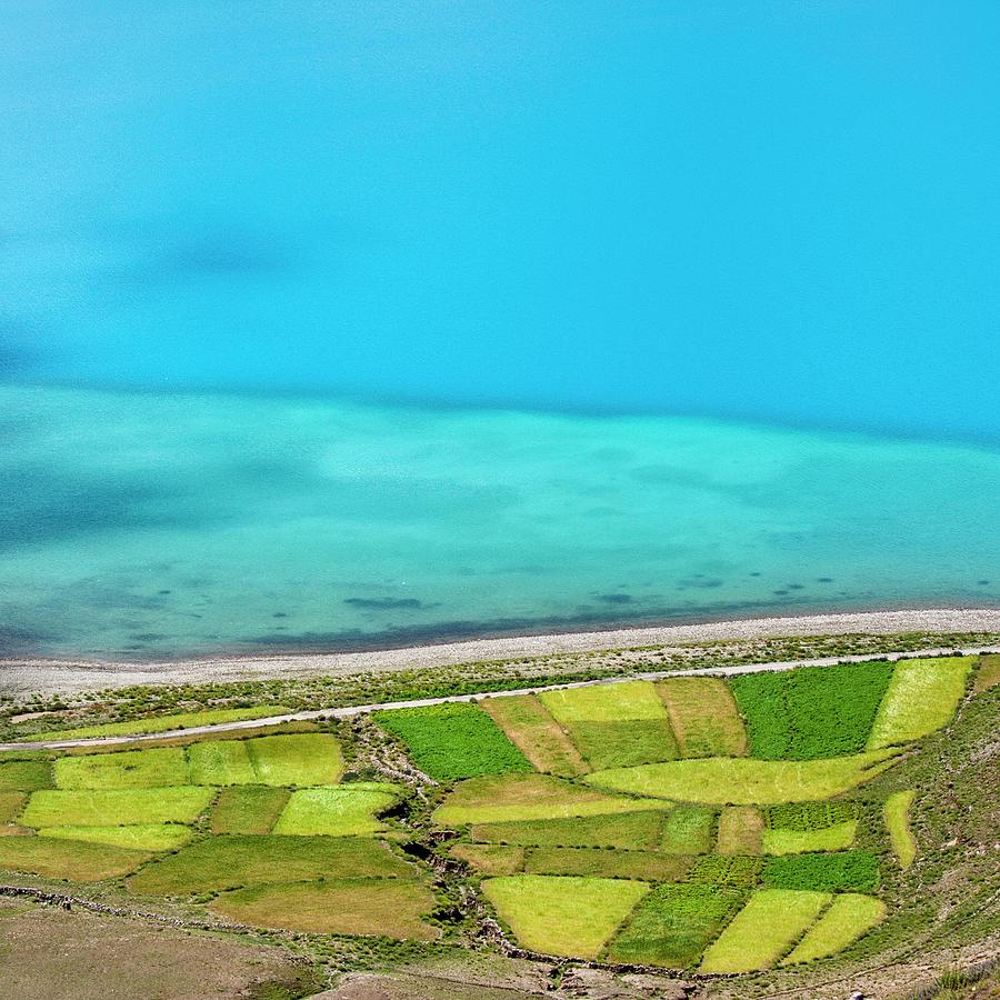 Yamdrok Abstract 3, Tibet, 2007 by Hitendra SINKAR