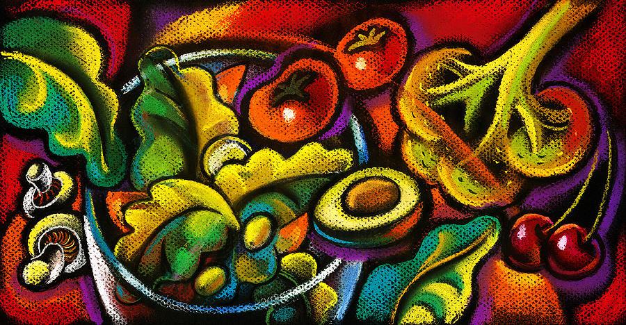 Yammy Salad Painting by Leon Zernitsky