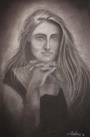 Portrait Drawing - Yancy by Spider Ryan