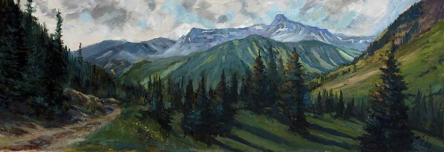 Colorado Painting - Yankee Boy Basin by Billie Colson