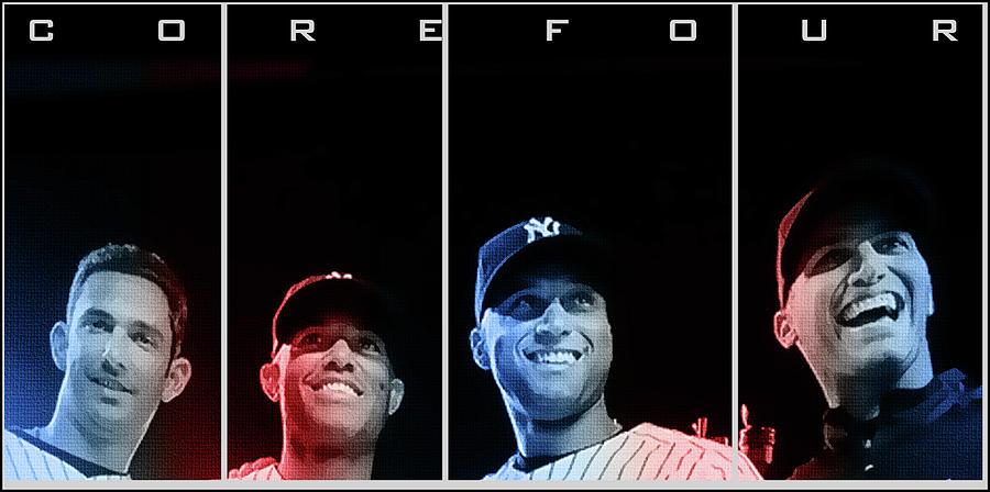 New York Yankees Digital Art - Yankee Core Four By Gbs by Anibal Diaz