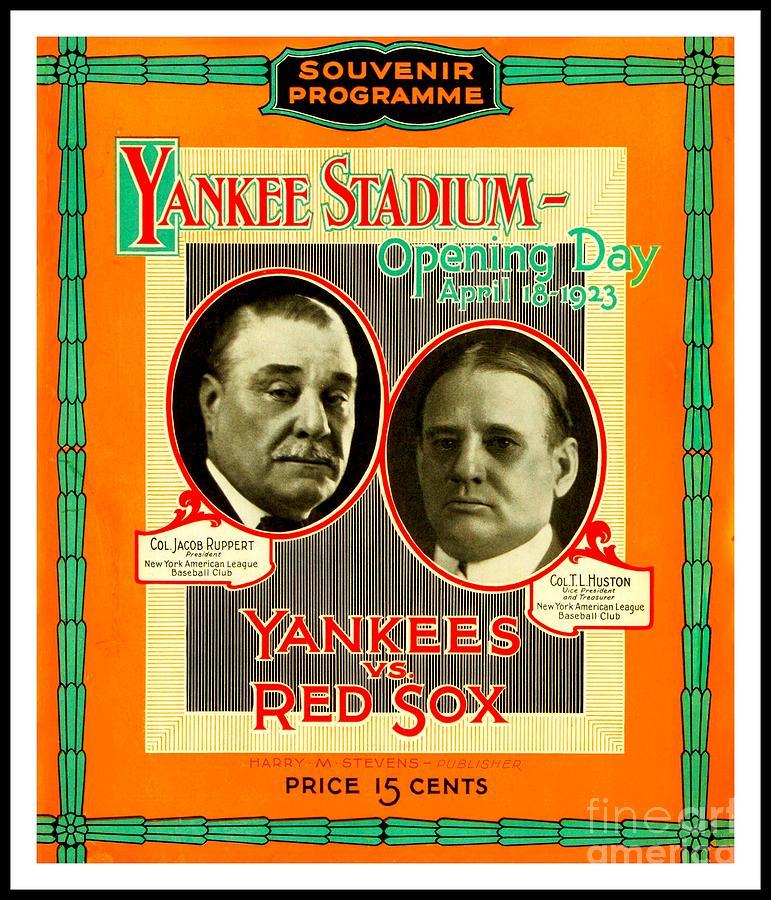 Yankee Stadium Opening Day Program Painting