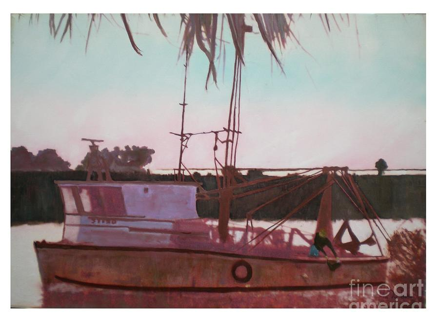 Seascape Digital Art - Yankee Town  Fishing Boat by Hal Newhouser
