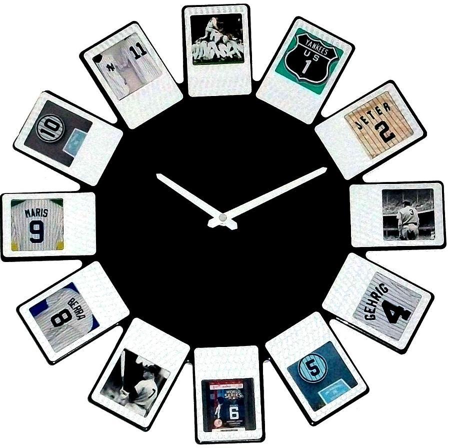 New York Sculpture - yankees Clock by Paul Van Scott