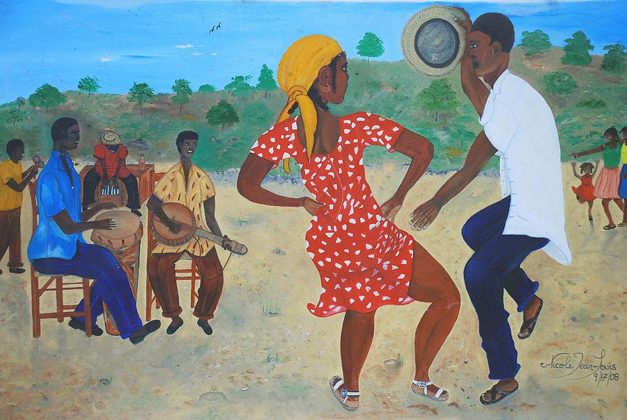 Man Painting - Yanvalou by Nicole Jean-Louis