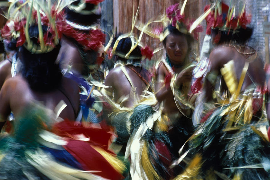 Swirling Photograph - Yap Dancers In Micronesia by Carl Purcell