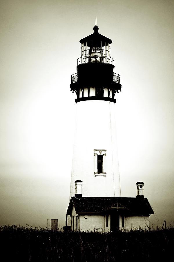 Yaquina Head Lighthouse Photograph - Yaquina Head Light - Haunted Oregon Lighthouse by Christine Till