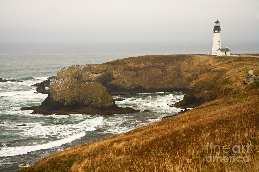 YAQUINA HEAD LIGHTHOUSE by Alice Cahill