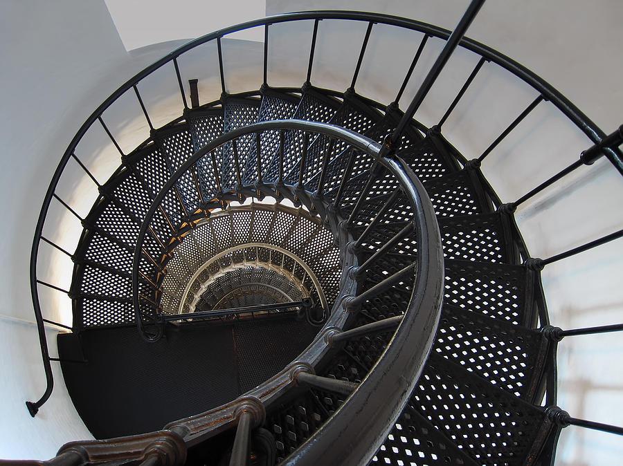 Nautilus Photograph - Yaquina Lighthouse Stairway Nautilus - Oregon State Coast by Daniel Hagerman