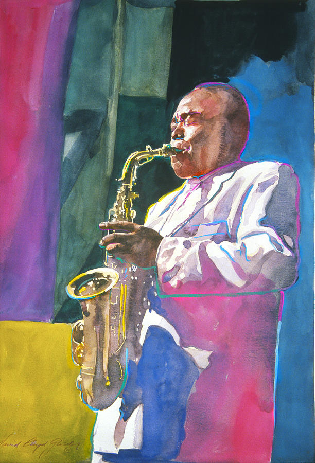 Be Bop Painting - Yardbird Parker by David Lloyd Glover