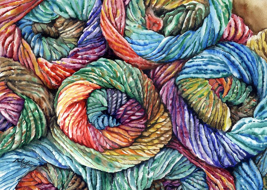 Yarn Painting - Yarn by Nadi Spencer