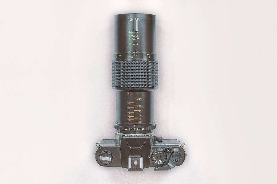 Yashica Fx-3 With 90mm Lens Photograph