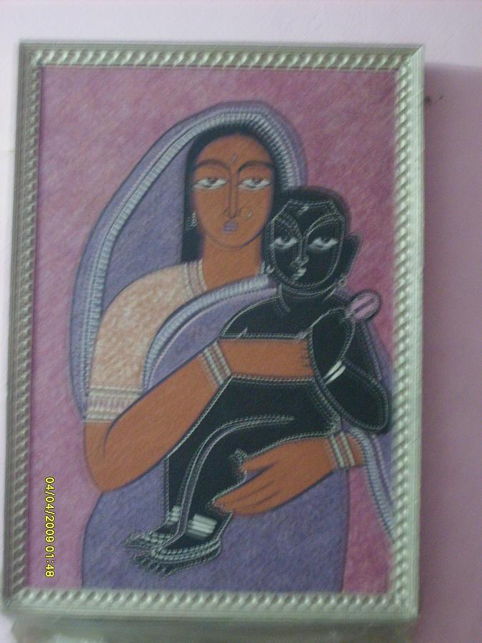 Maa Painting - Yashoda Maa With Krishna by Neetu Lokesh