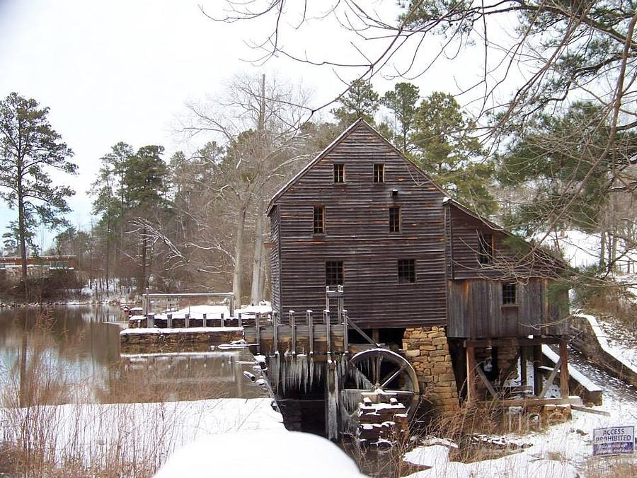 Yates Mill Photograph - Yates Mill In Winter by Kevin Croitz