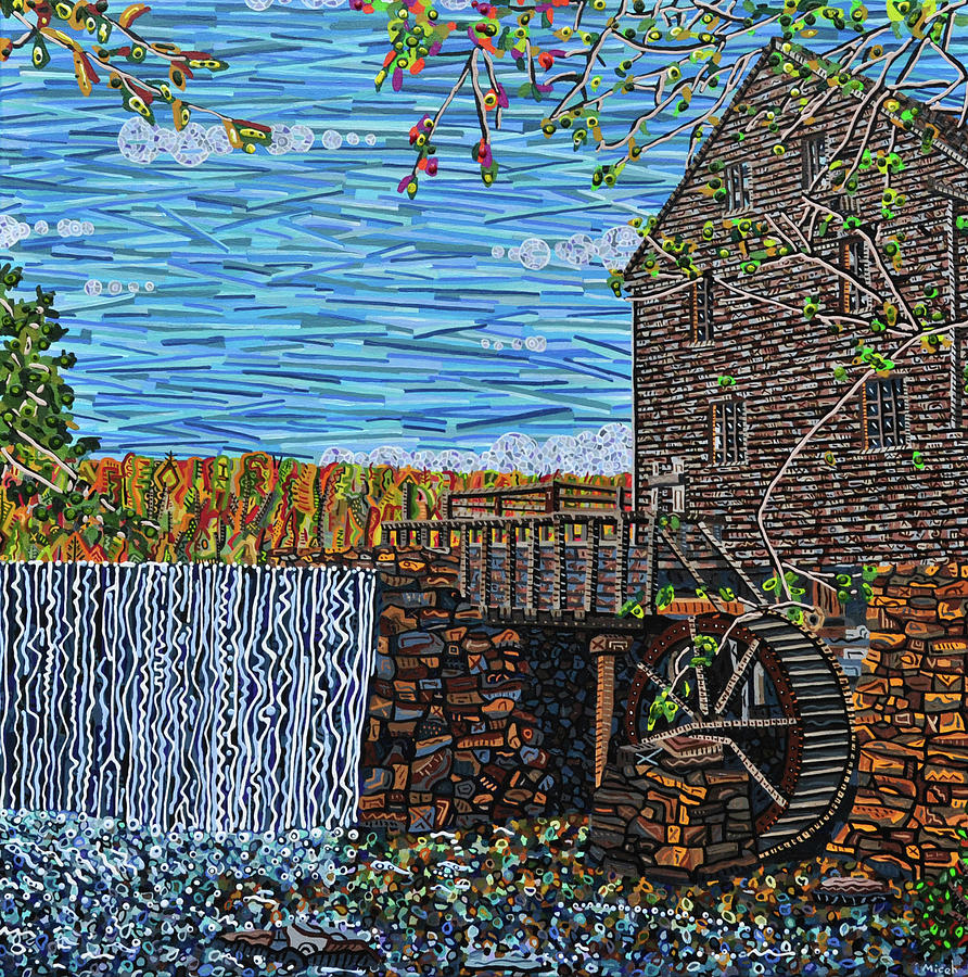 Yates Mill Painting - Yates Mill by Micah Mullen