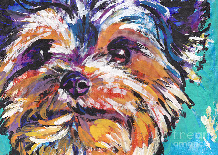 Yorkshire Terrier Painting - Yay Yorkie  by Lea S