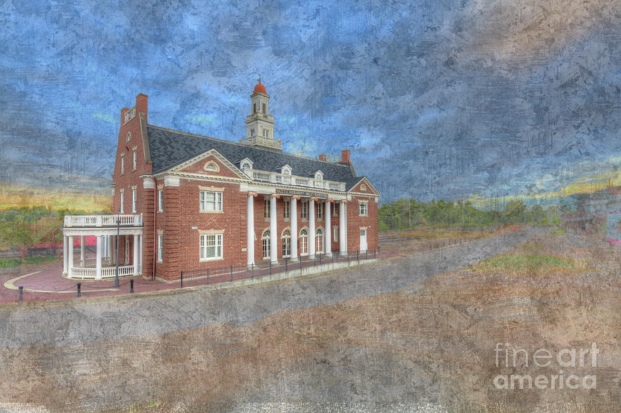 Hdr Digital Art - Yazoo And Mississippi Valley Depot by Larry Braun