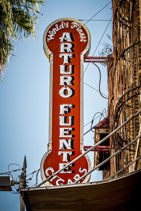 Ybor City Photograph - Ybor City Arturo Fuente Cigar Sign by Toni Thomas