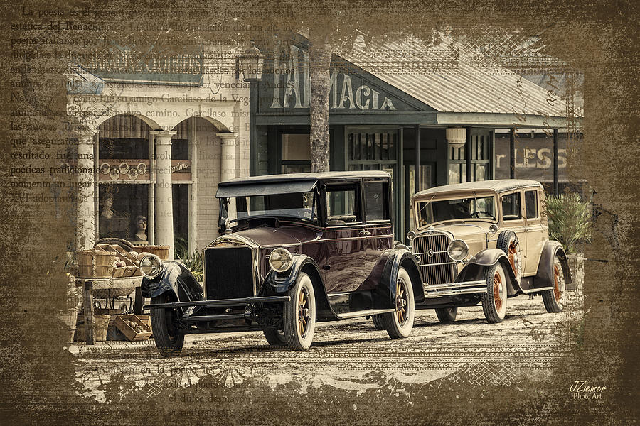 Car Photograph - Ybor City Prop Cars by Jim Ziemer