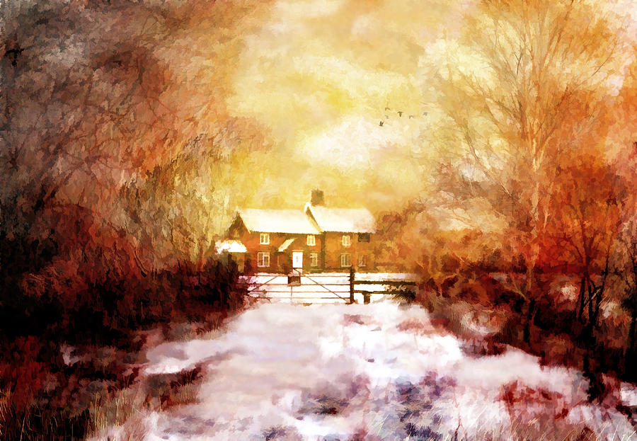 Landscape Digital Art - Ye Olde Inn by Valerie Anne Kelly