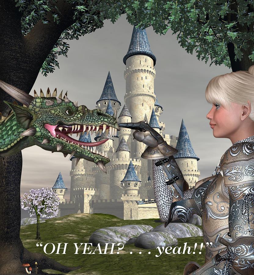 Fantasy Illustration Digital Art - Yeah by David Griffith