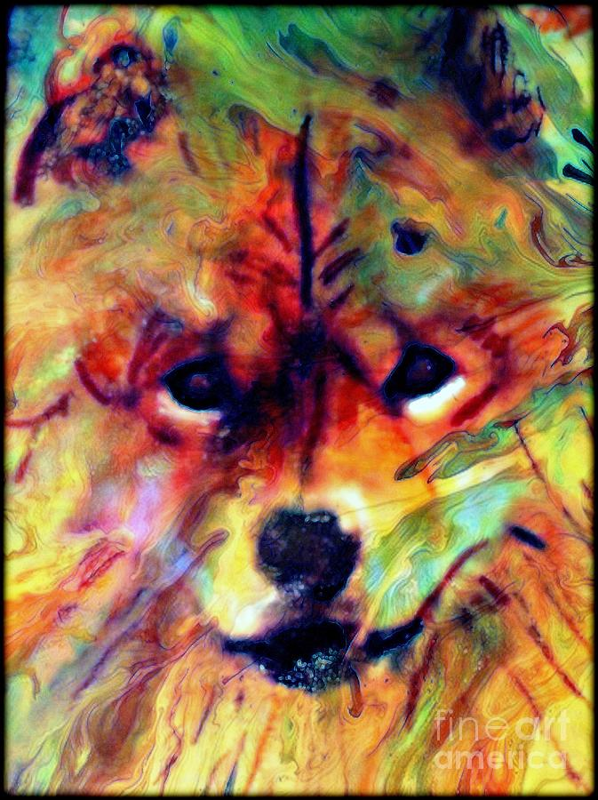 Dog Painting - Year Of The Dog by Wbk