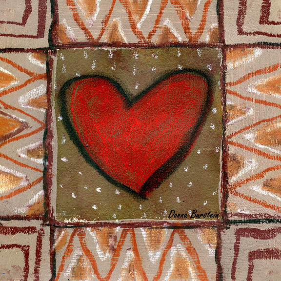 Heart Painting - Yearning Heart by Donna Burstein